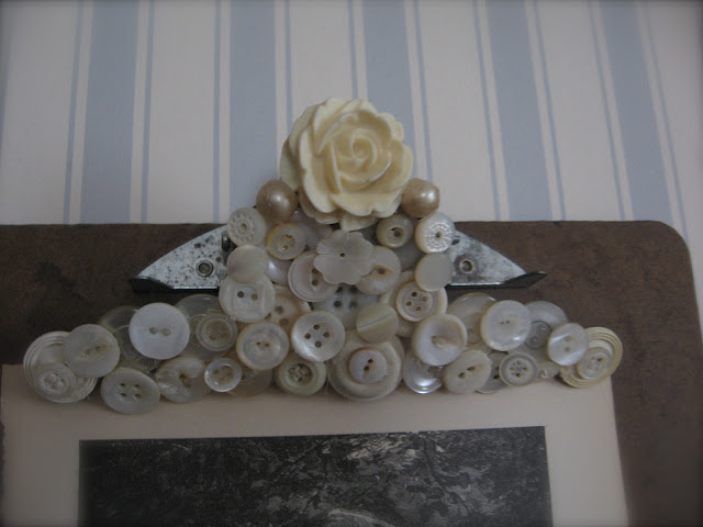 Button Decorated Clipboard Above And Below From Petite Michelle Louise