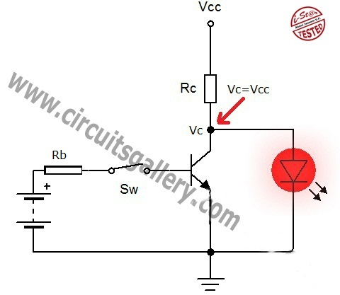 Transistor+Switch Open Base Transistor act as a switch  Working and transistor switching circuit