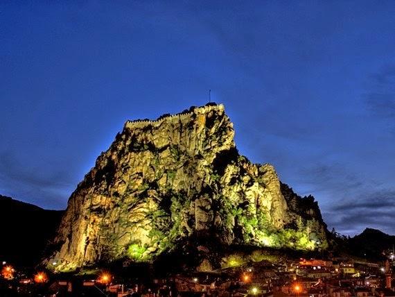 Afyonkarahisar Kalesi Gece