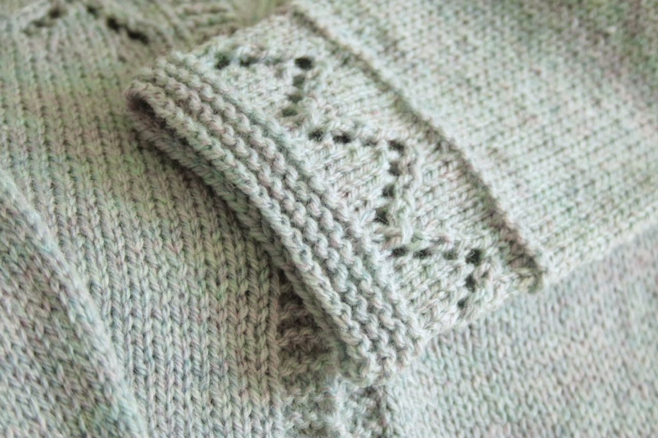 Cherry Heart: Granny's favourite cardigan cuff detail