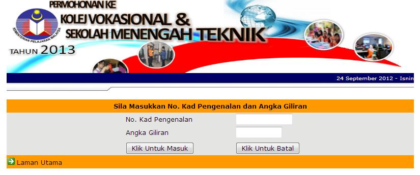 Pengumuman Keputusan Dari Kementerian Pelajaran Malaysia