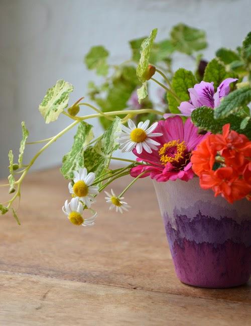 Studio Choo via Design*Sponge - Dip Dyed Ombré Planter