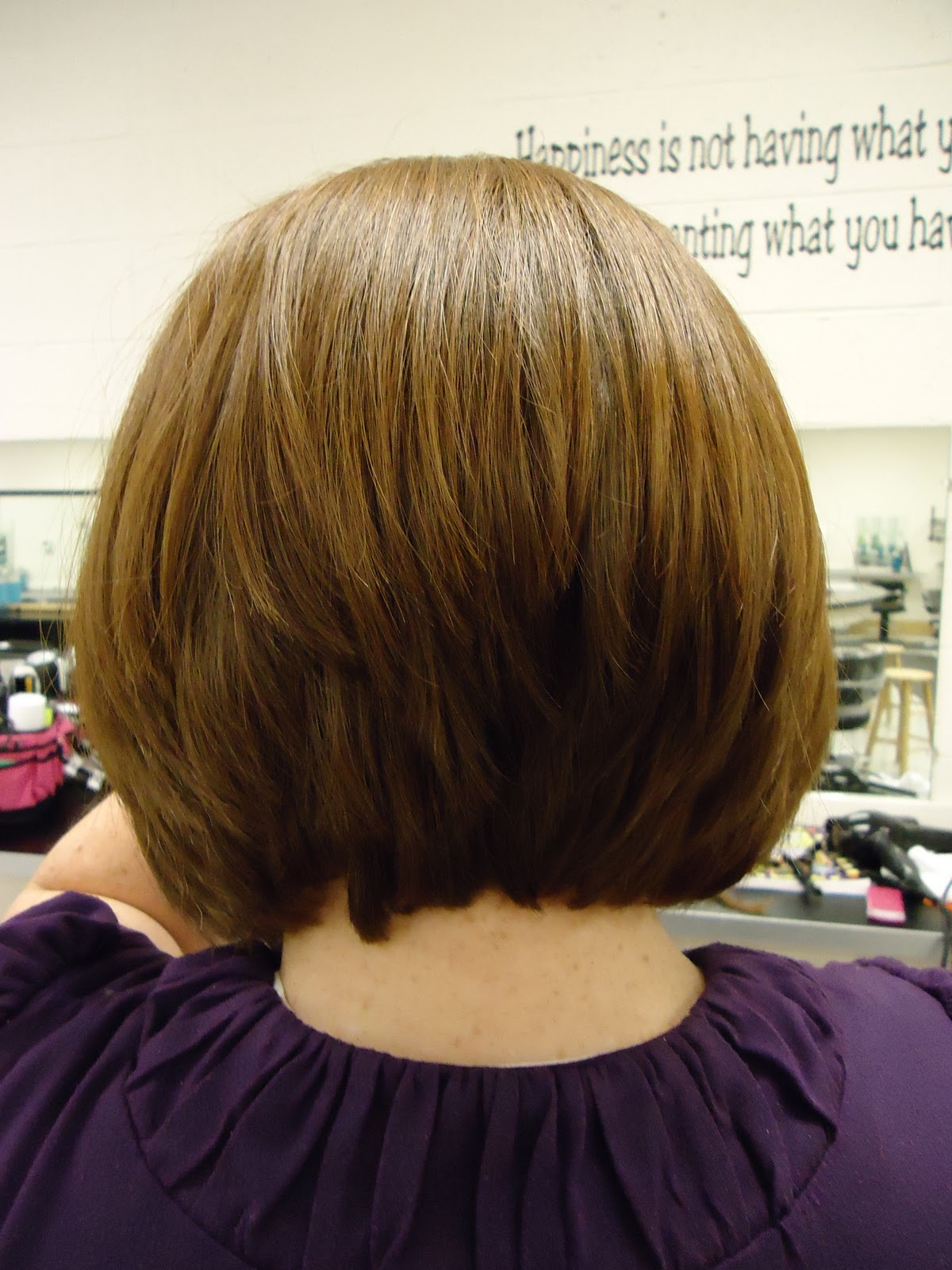 A Line Stacked Bob Haircut Back View