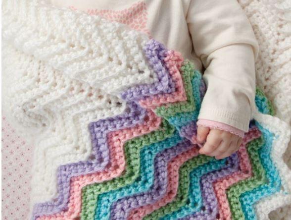 Patrones gratis de mantas para bebes aprender - Mantas de bebe hechas a ganchillo ...