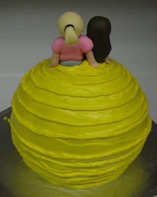 Therapy Exercise Ball Cake - Back View