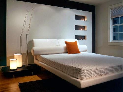 modern minimalist white bedroom interior design