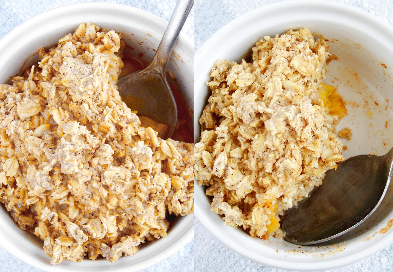 The Oatmeal Artist: Peach Cobbler Baked Oatmeal