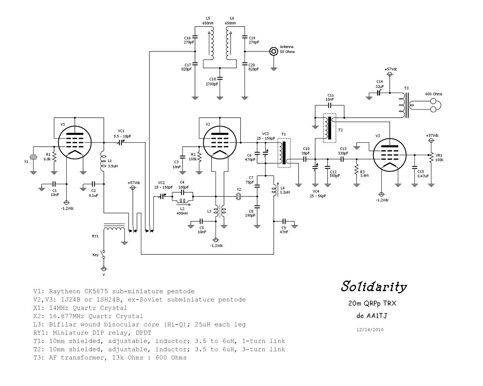 m1kta s qrp ham radio blog hro 5 and russian pencil valves Headlight Wiring Diagram dl3jin de tx 1x 1p24b htm