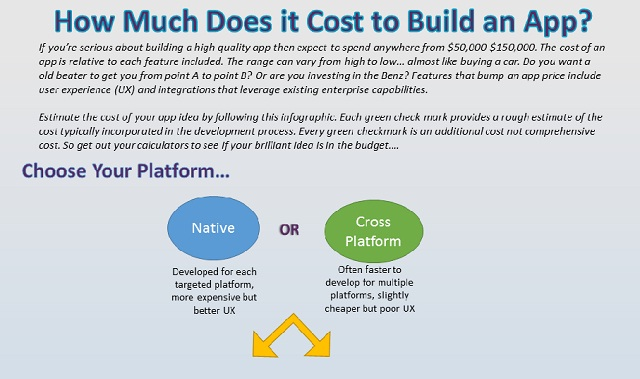 How much does it cost to build an app infographic for How much does it cost to build a house yourself