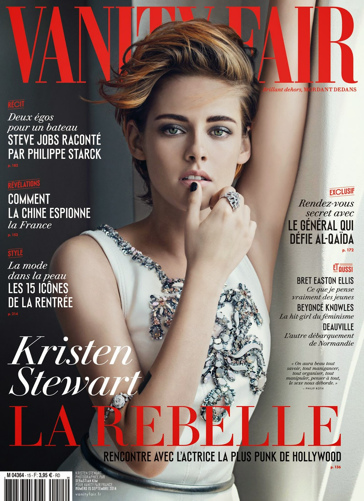 Kristen Stewart by Sebastian Kim for Vanity Fair Magazine,France, September 2014