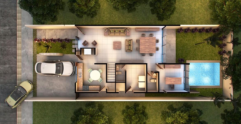 Planos de casas y plantas arquitect nicas de casas y for Casas minimalistas planta baja
