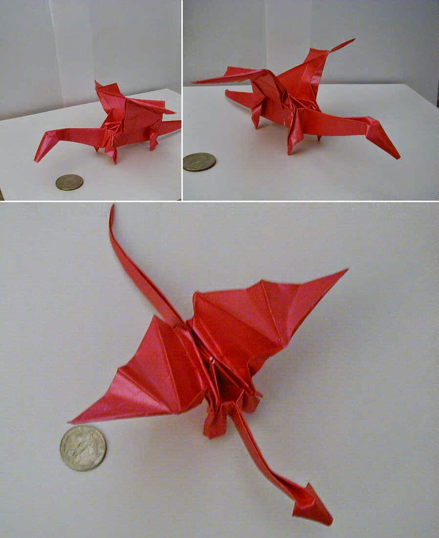 simple origami dragon for kids