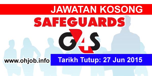 Jawatan Kerja Kosong Safeguards G4S logo www.ohjob.info jun 2015