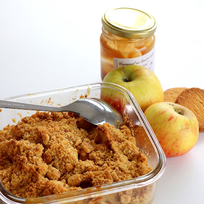 Illustration Crumble Pomme Caramel Express