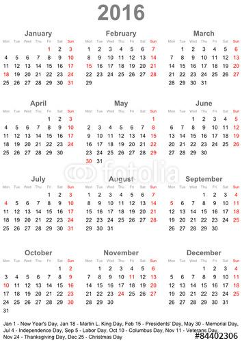 Download Kalender 2016