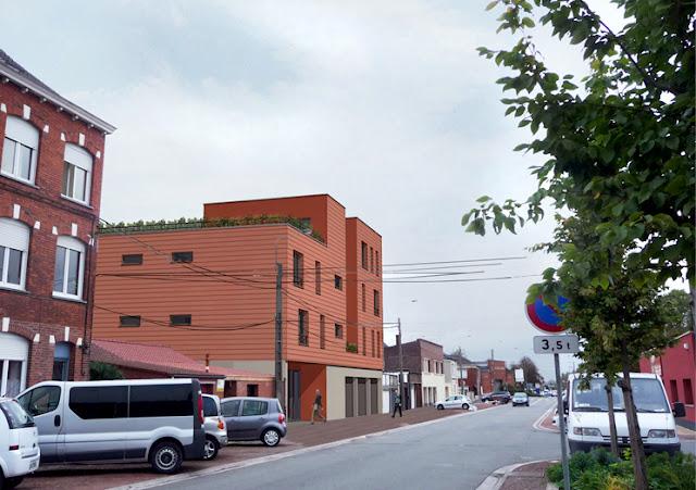 Immeuble logement passif -architecte-labokub- architecture écologique - lille