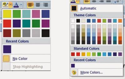 mengganti warna Huruf dan Background dalam microsoft word