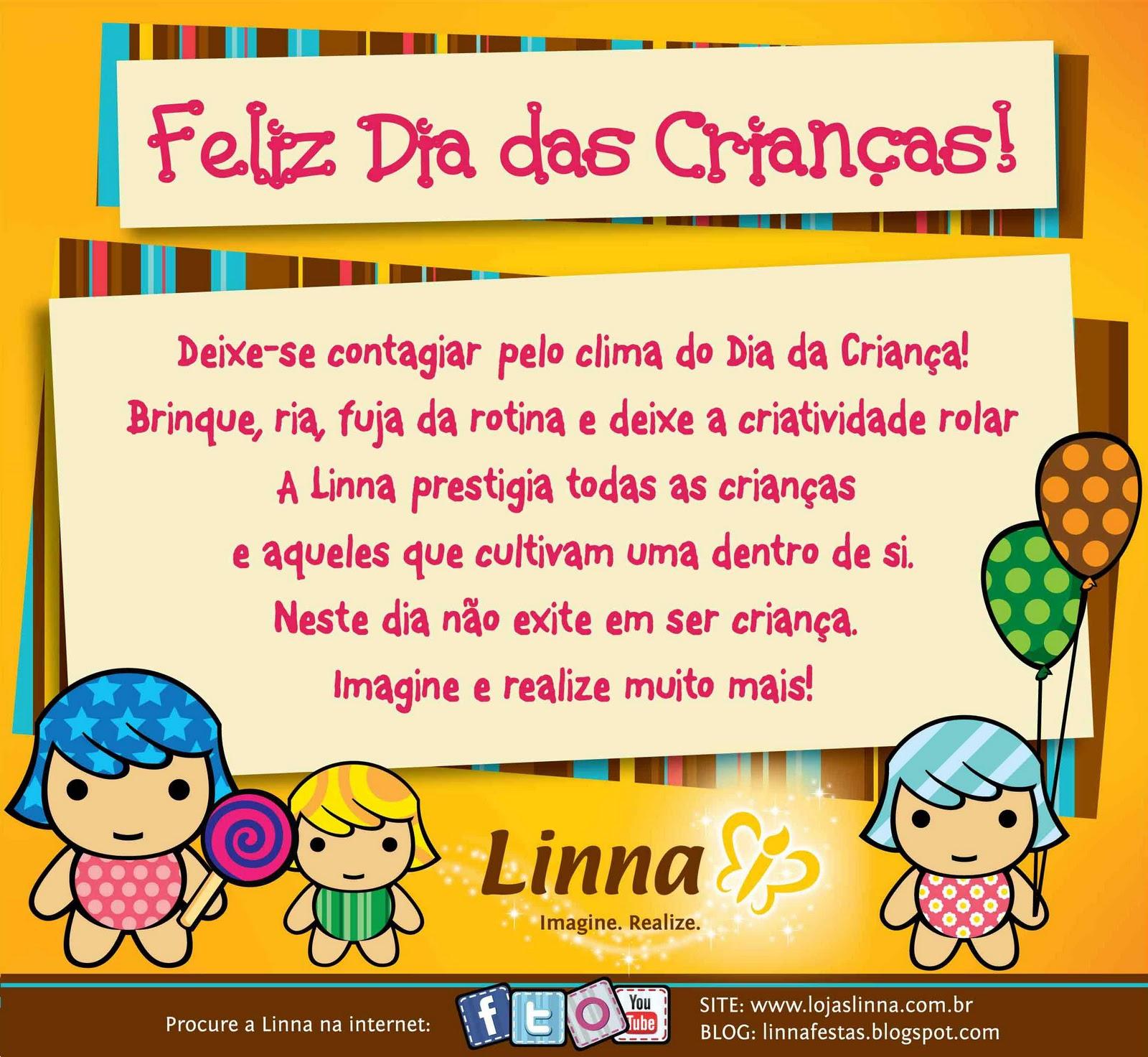 Feliz Dia Da Criança Lojas Linna