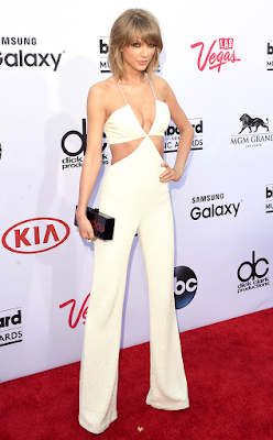 Get the Look: Taylor Swift at the 2015 Billboard Music Awards in Balmain Jumpsuit vs Nasty Gal