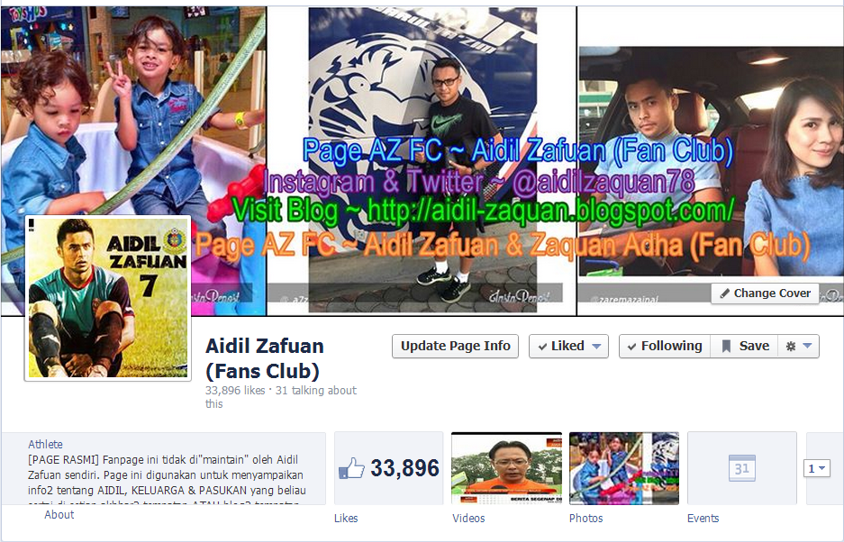 Page Aidil Zafuan (Fan Club)