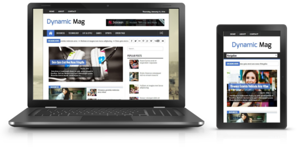 Dynamic Mag Responsive Blogger Template