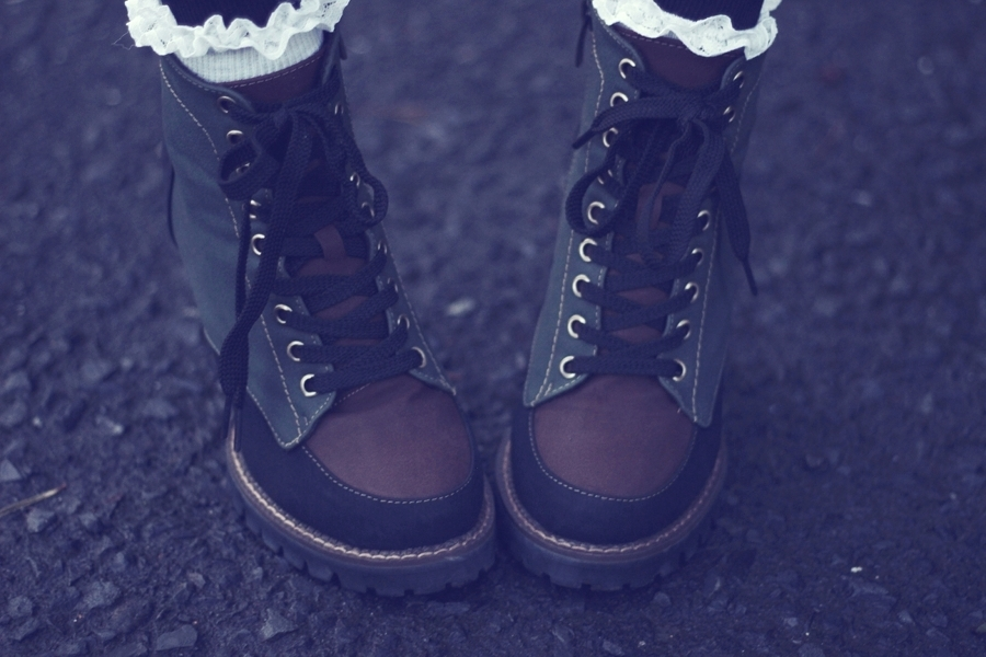 Khaki Military Lace Up Boots by Oasap