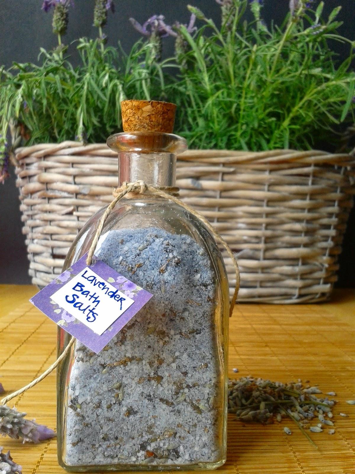 lavender homemade bath salts
