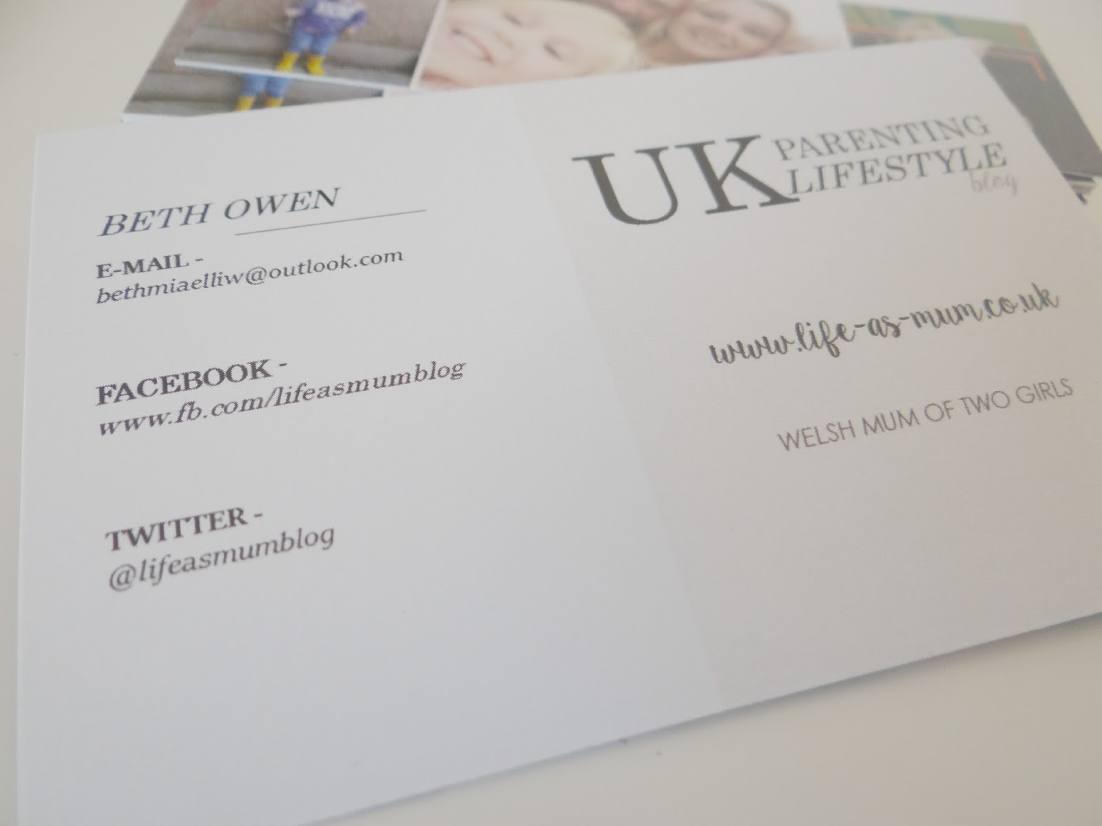 Top tips for your blog business cards what to include review i personally think that photos are a lot more eye catching that fonts alone if you are to include a couple of photos or logo on your business card you magicingreecefo Images