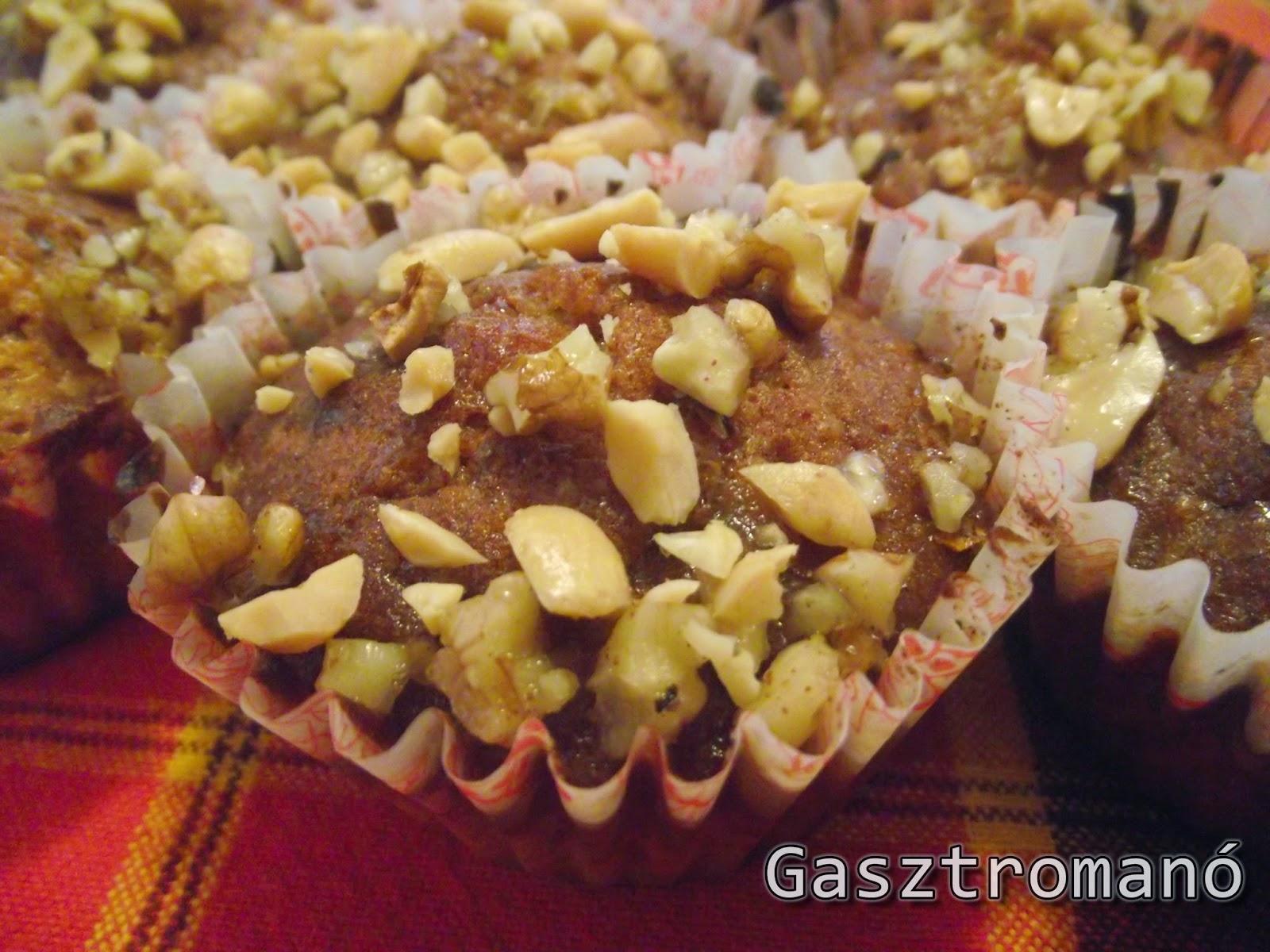 narancsos diós mézes muffin