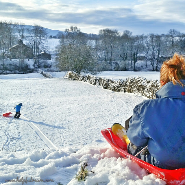 sledging in Yorkshire Dales