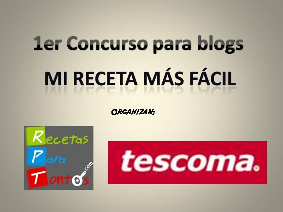 """I Concurso de blogs """"Mi receta más fácil"""""""