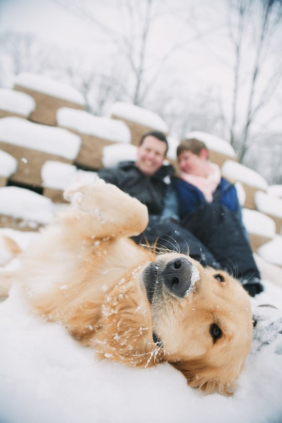 Cozy and Snowy Maryland Engagement Session | Karlo Photography | Lovebird Productions Blog