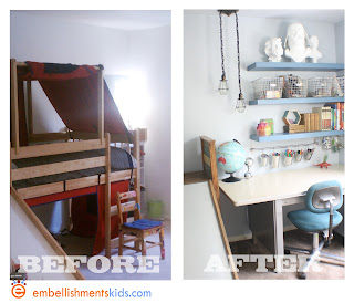 Customized bed from faux reclaimed wood.  Makeover ideas.
