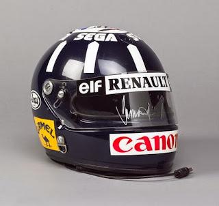 Il casco di Damon Hill, uguale a quello del padre Graham