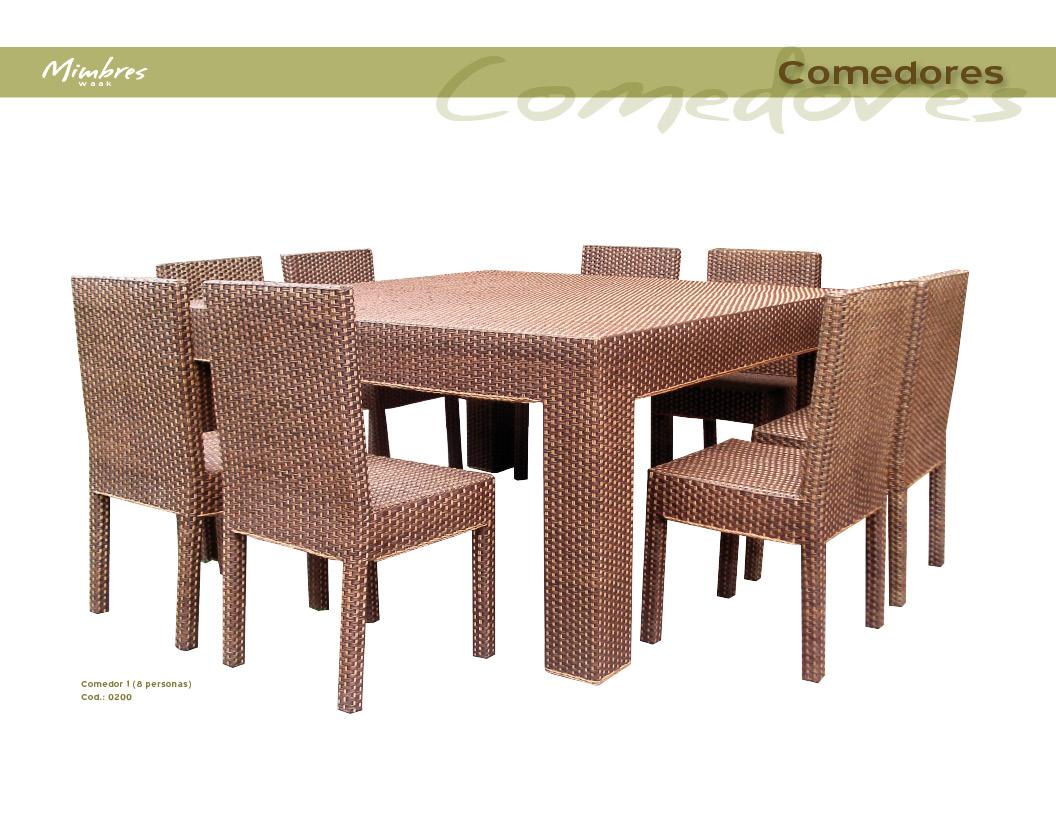 Muebles de mimbre mimbres waak mimbres comedores for Comedores 8 sillas chile