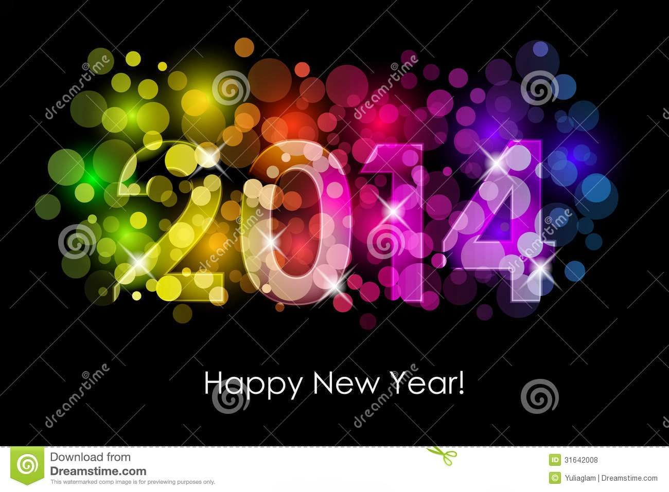 Beautiful Happy New Year 2014 Wallpaper for Greetings, FB