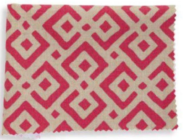 2013 Fabrics Pattern LATTICE Cotton in Flame