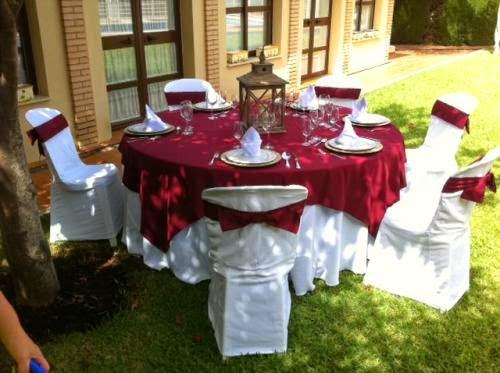 alquiler de mesas vestidas en granada