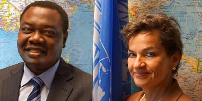 ICAO Council President Dr. Olumuyiwa Benard Aliu and Christiana Figueres
