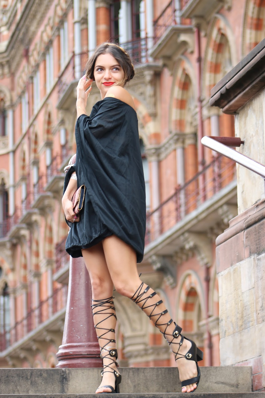 How To Wear Gladiator Heels With A Dress