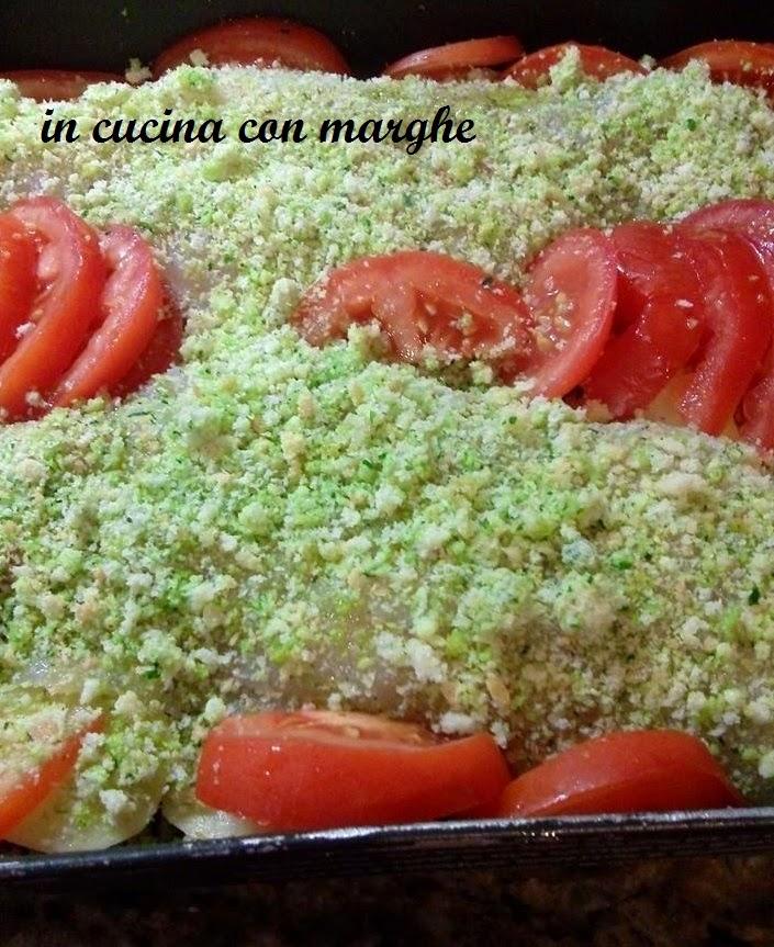 Filetti di persico al gratin