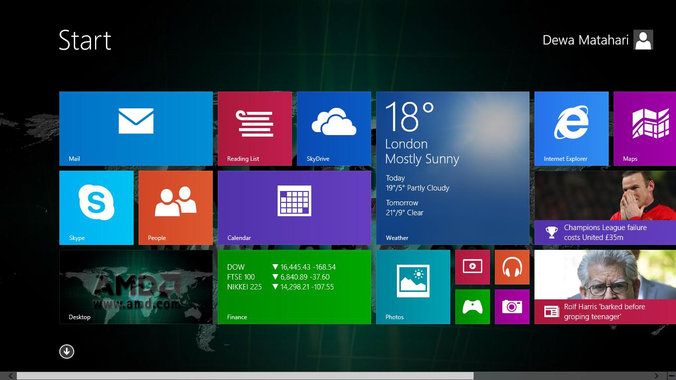 Cara Membuat Dekstop Background Start Screen Windows 8 1