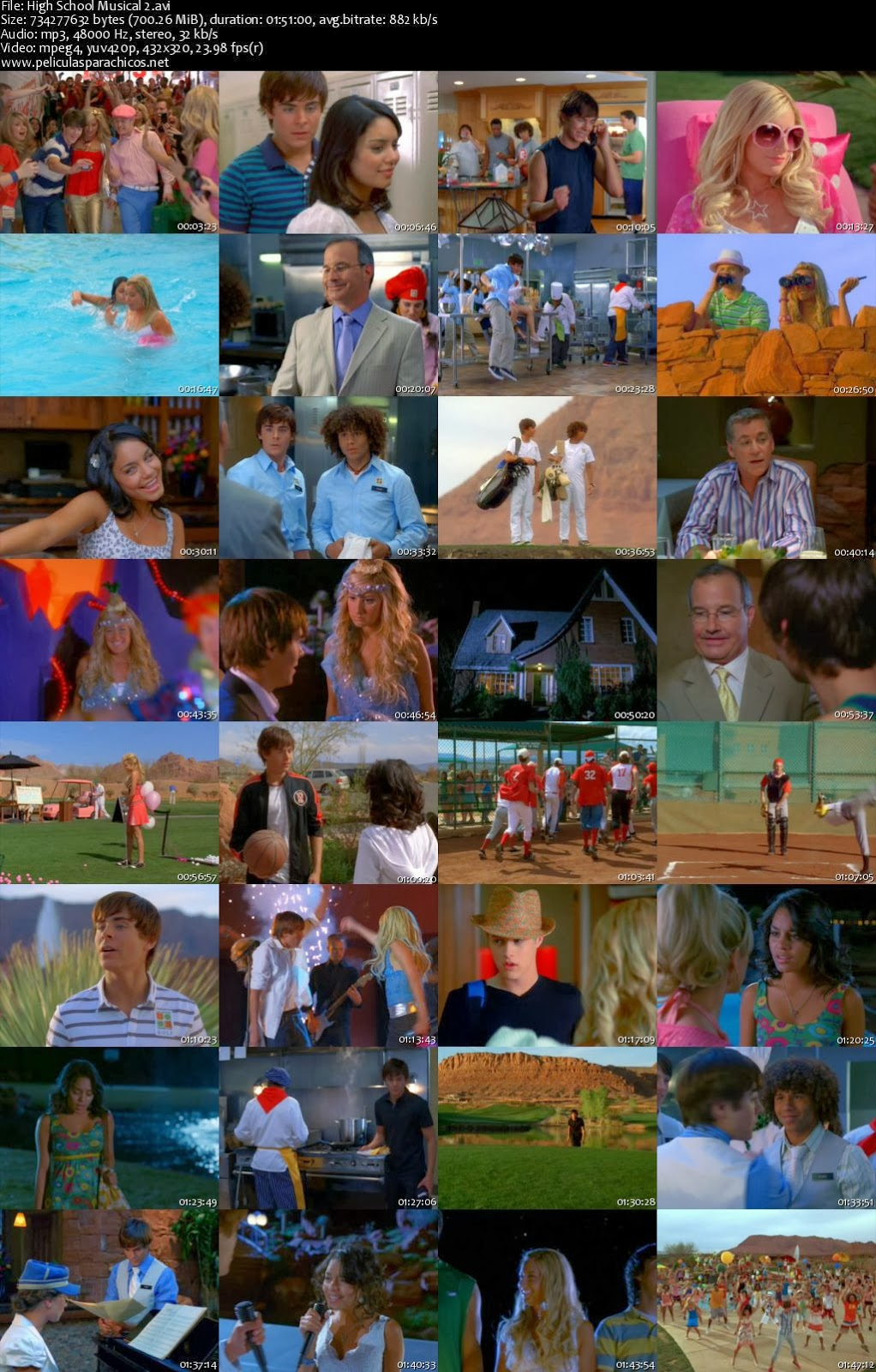 HIGH SCHOOL MUSICAL 2 | Peliculas Infantiles