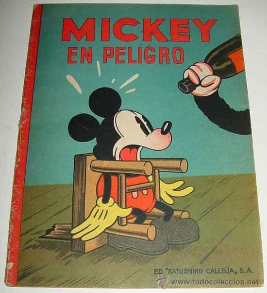 Portada de Mickey en peligro de Editorial Saturnino Calleja