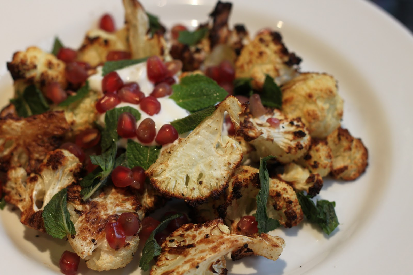 Dine at Mine: Cumin-Roasted Cauliflower with Pomegranate, Yoghurt and ...