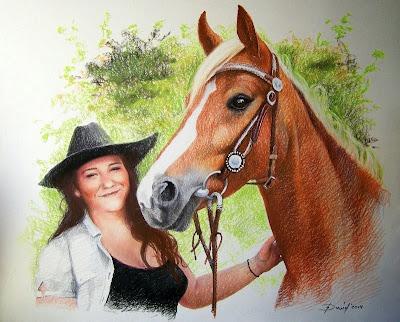 Mädchen und ihr Pferd, Doppelportrait, Pferdeportrait