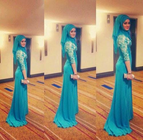 Model Baju Pesta Muslim Terbaru 2014 Pengantin Muslim ...