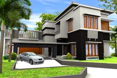 4 contoh gambar rumah mewah minimalis | desain rumah