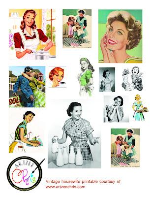 The Artzee Blog: Free Retro Vintage 1950s Housewife Printable