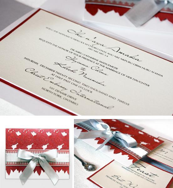 We Love: Bibi African Themed Wedding Invitation Cards.